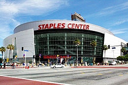 Staples Center is a multi-purpose sports arena in Downtown Los Angeles. Adjacent to the L.A. Live development, it is located next to the Los Angeles Convention Center complex along Figueroa Street. Opening on October 17, 1999, it is one of the major sporting facilities in the Greater Los Angeles Area.