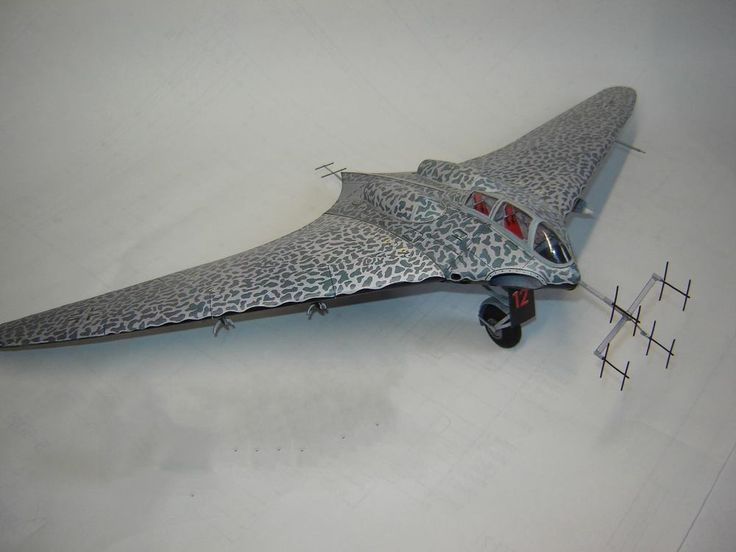 246 1:33 WWII Horten Ho 229 Night fighter Aircraft paper ...