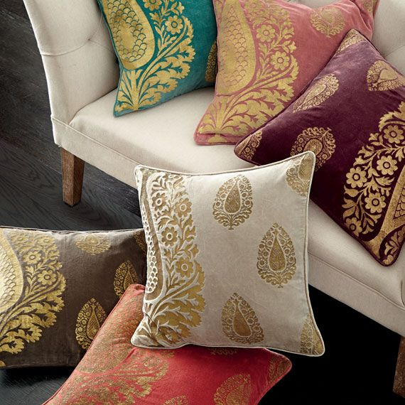Shambhala Cushion Cover, Large - Silver/Gold