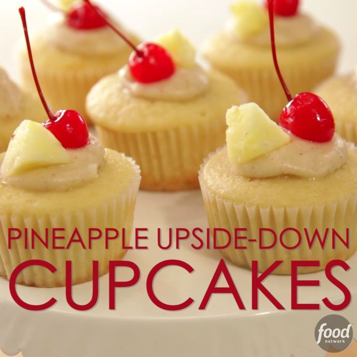 The classic Pineapple Upside Down Cake now made into bite-sized cupcakes! These sweet treats will be a household and party favorite.