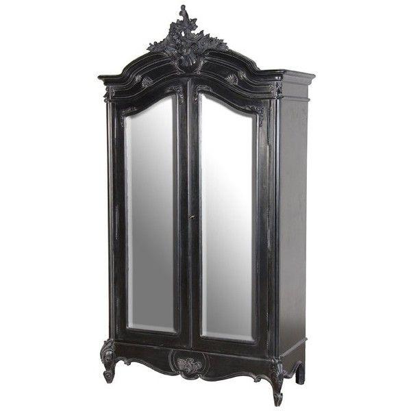 black large mirrored armoire for la casa pinterest shelves wardrobes and home. Black Bedroom Furniture Sets. Home Design Ideas