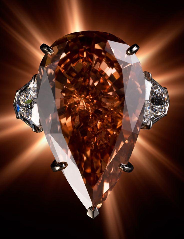 23.48 ct pinkish orange diamond, cartier