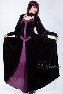 Фото - Длинное платье из бархата