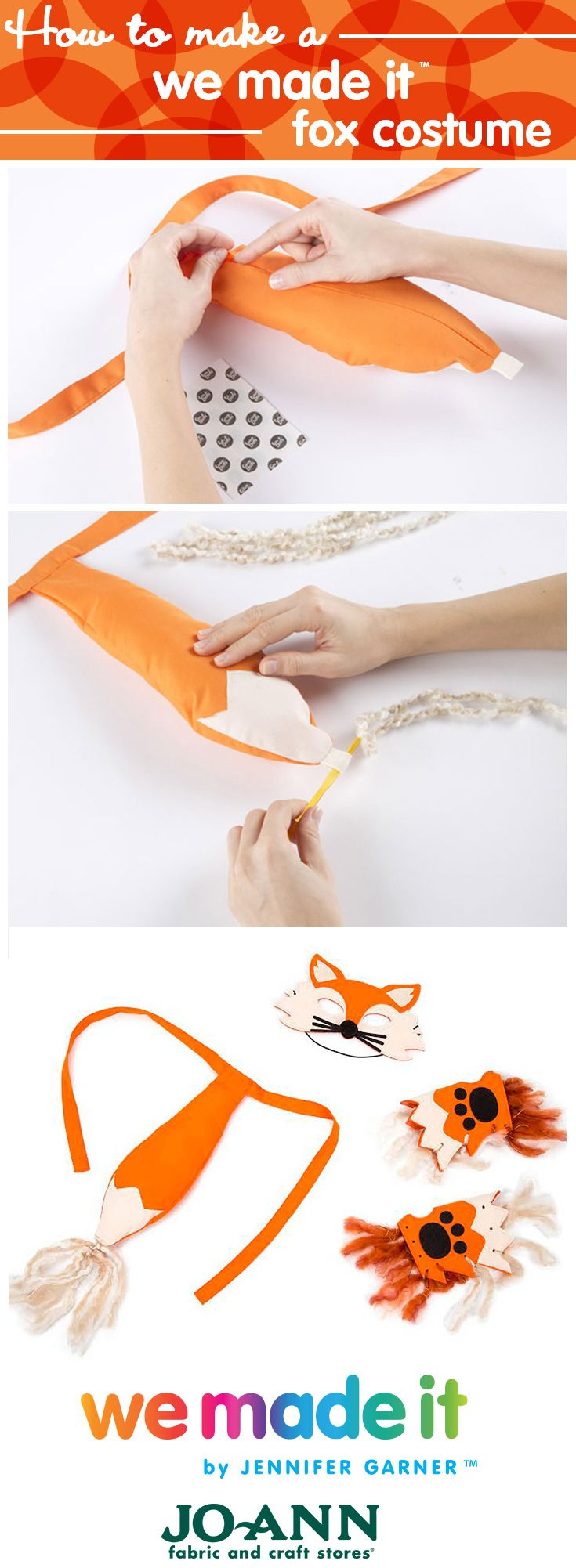 Fox Costume // DIY Costume for kids  from the We Made  It By Jennifer Garner Kids Craft line at Joann.com