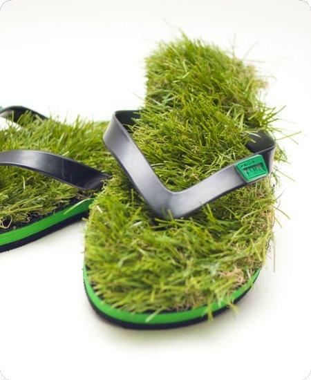 Grass Flip Flops by Kusa.