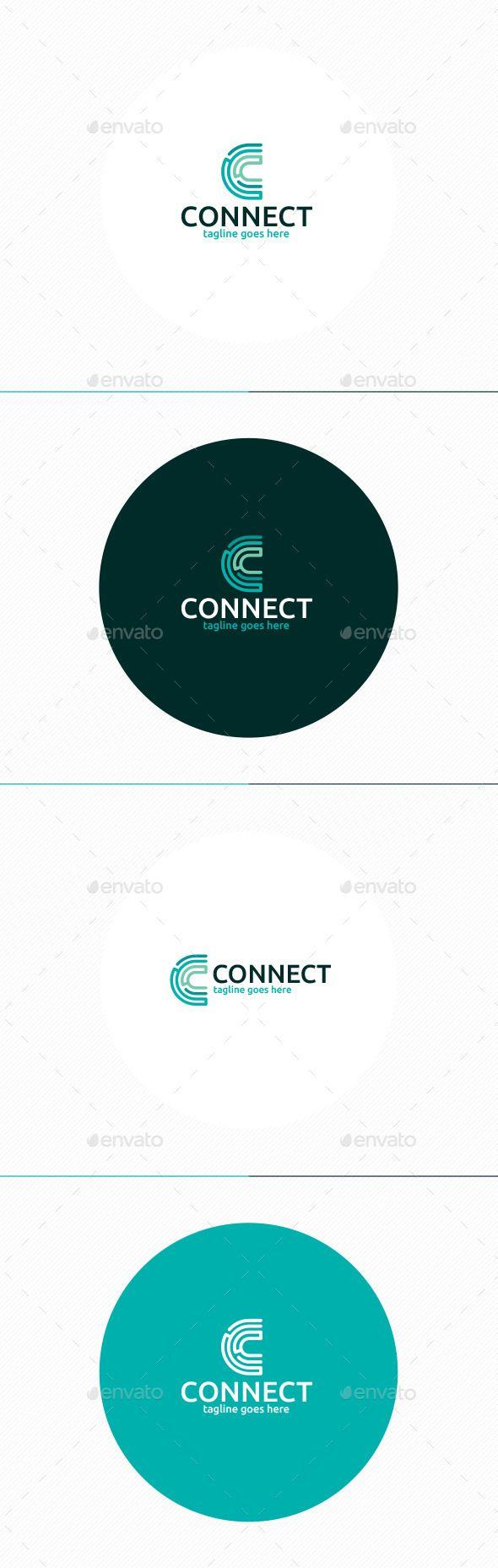 Connect Logo • Letter C - Letters Logo Templates