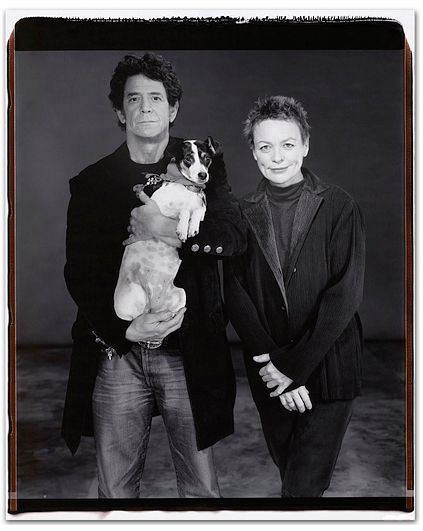 Lou Reed with Laurie Anderson and their dog, New York, 2001