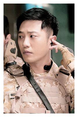 """descendants-of-the-sun: """"Descendants of the Sun cast - Song Joong Ki as Captain Yoo Shi Jin of the Special Forces unit. Song Hye Kyo as Dr. Kang Mo Yeon, thoracic surgeon of a VIP ward. Kim Ji Won as..."""
