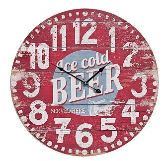 "Retro XXL Wanduhr ""Ice cold Beer"" Vintage"