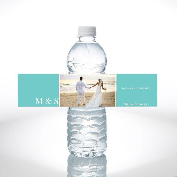 Botellas de agua personalizadas bodas
