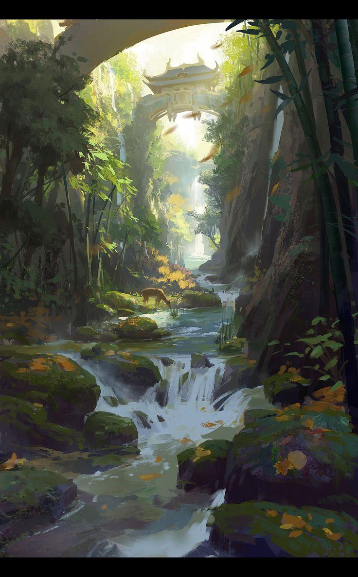 Bamboo brook by dawnpu d77918l
