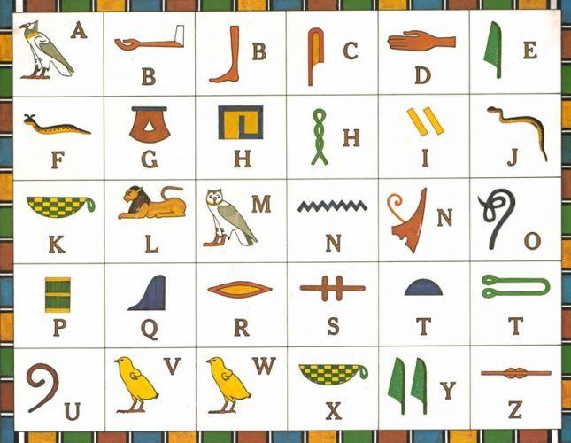Egyptin hieroglyfit.