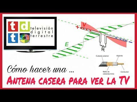 CÓMO HACER UNA ANTENA CASERA PARA VER LA TV (HD). FÁCIL Y RÁPIDO. - YouTube