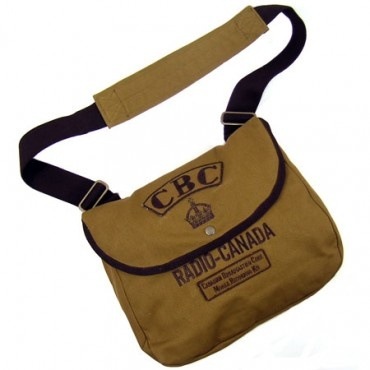 The perfect accessory for your reel-to-reel recorder, this canvas bag recalls a time when a young nation was just finding its voice in the world and the CBC was there recording it.