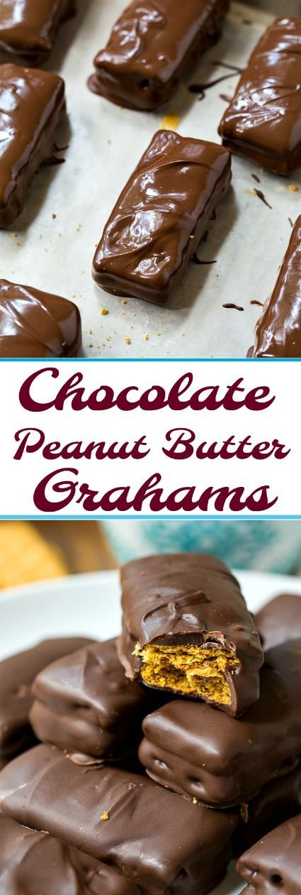Chocolaye Peanut Butter Graham Crackers- only 3 ingredients! #peanutbutter #chocolate