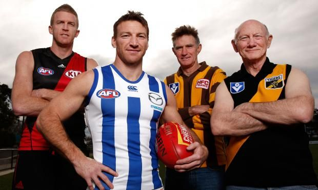 Brent Harvey joins Dustin Fletcher, Michael Tuck and Kevin Bartlett in the 400 club. Picture: AFL.com.au