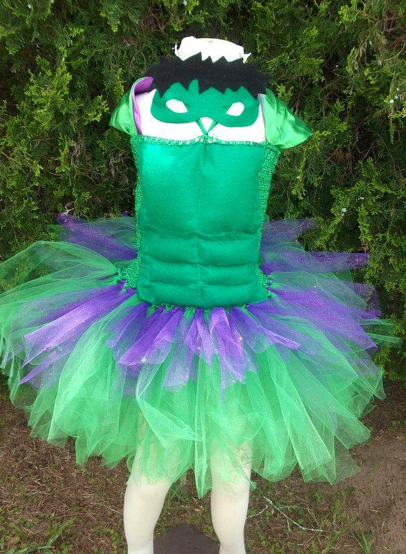 Hulk she-hulk inspired tutu dress costume by GlitterprincessGalor
