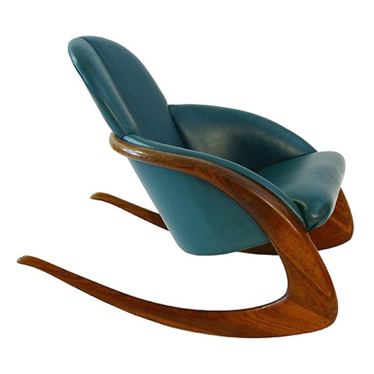 Antique rocking chair with leather seat woodworking for Affordable furniture ville platte la