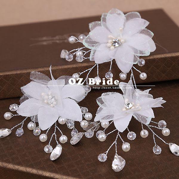 [Принцесса] с макияж игривой природе. Новый корейский горный хрусталь свадебное аксессуары для волос головной убор цветок голову - Taobao