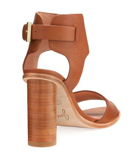 Opal Pebbled Leather Sandal