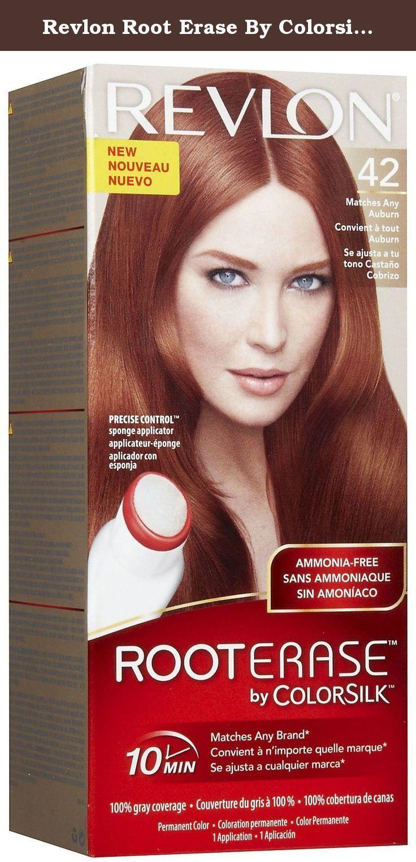 Colorsilk beautiful color 55 light reddish brown by revlon hair color - Revlon Root Erase By Colorsilk Permanent Hair Color 42 Auburn 1 Application Kit Revlon