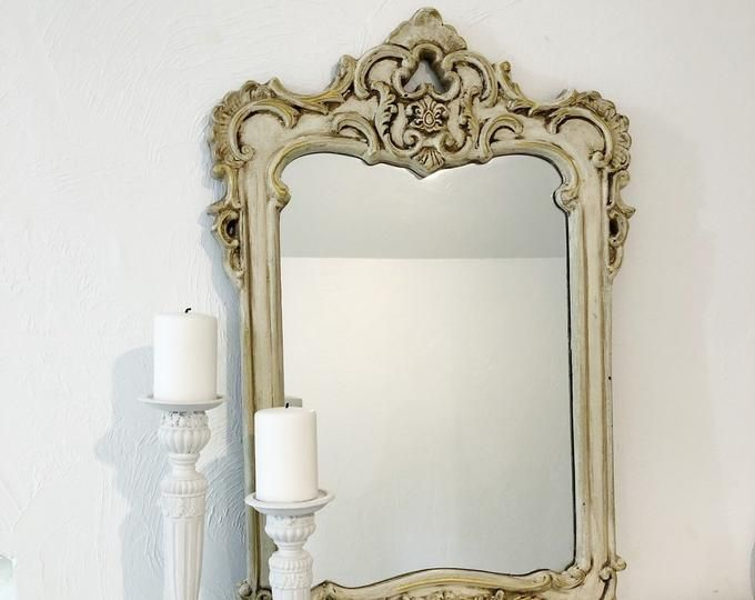 Etsy Your Place To Buy And Sell All Things Handmade In 2020 White Ornate Mirror Decor Shabby Chic Mirror