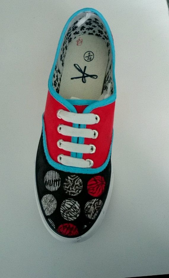 Custom Shoes  Twenty One Pilots Blurryface by MusicinyourShoes