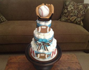 Sports Diaper Cake/ Basketball Diaper Cake/ by QueensDecorations