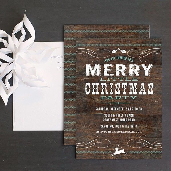 13 best Christmas party invites images on Pinterest Christmas - best of invitation party card