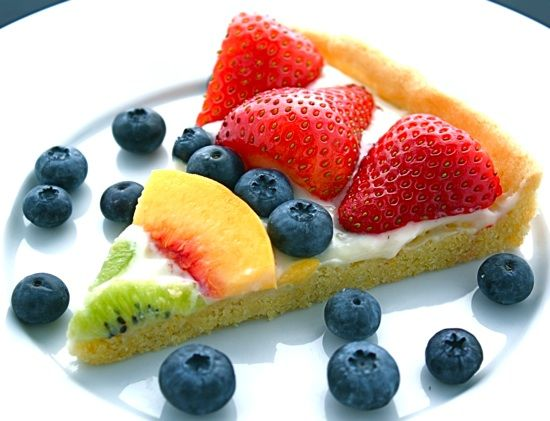 Recipe for Homemade Fruit Pizza.....doesn't use the typical pre-made sugar cookie dough for a crust.