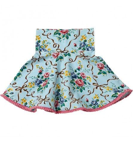 Floral Ribbons Circle Skirt