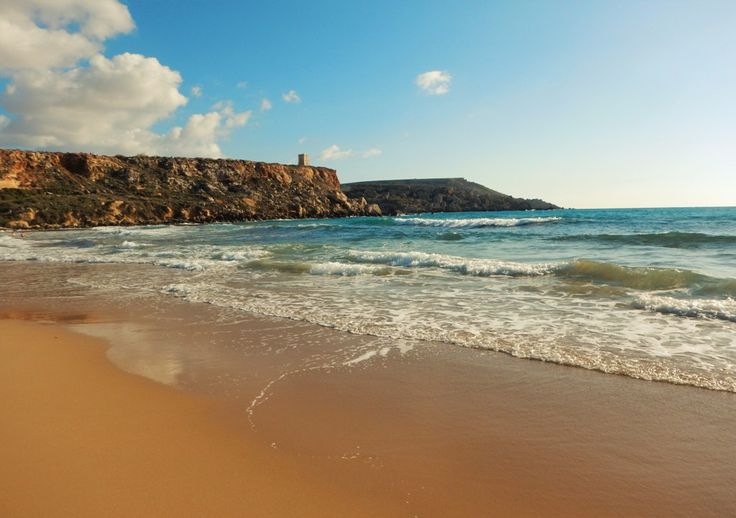 Golden Bay│Come to Malta and discover our culture. There is no better place to learn English: http://lifeinmalta.com/ #malta #beach #lifeinmalta