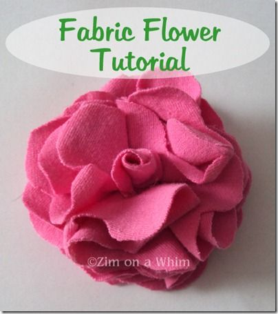 fabric flower diy | Fabric Bows and More: Fabric Flower Tutorial by Zim on a Whim