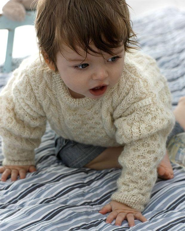 Strik selv: Aransweater med snoninger - Hendes Verden