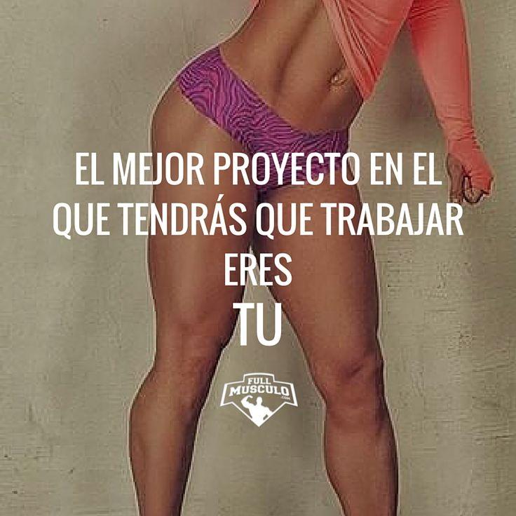 El mejor proyecto en el que vas a trabajar eres tu. Empieza hoy a trabajar en el cuerpo que deseas tener. #fitness #motivation