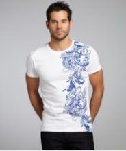 Etro white paisley printed cotton short sleeve t-shirt gifters.com white shirts for men