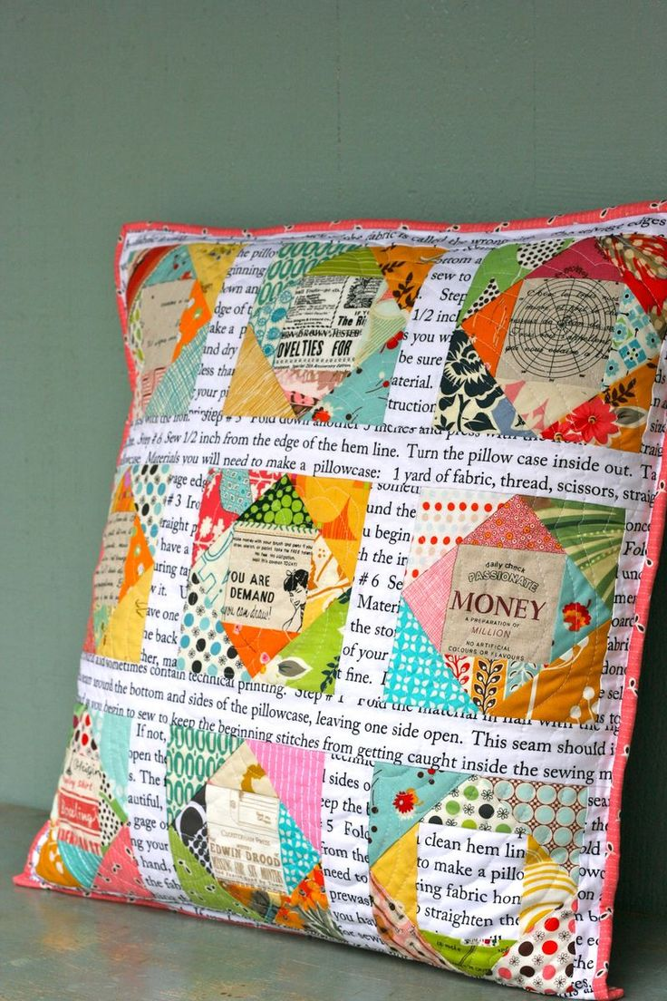 "pillow talk...I found these printed fabrics online...they are ""Timeless Treasures"" fabrics...the main one is called ""How to Make a Pillowcase"" C9633-white. _ TR"