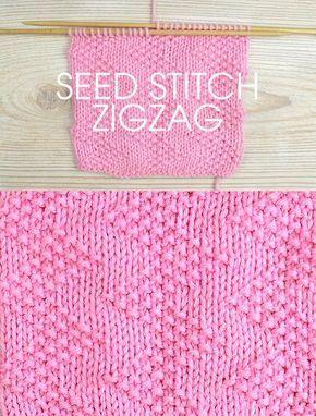 Stitch da Semana: Seed Stitch Zigzag