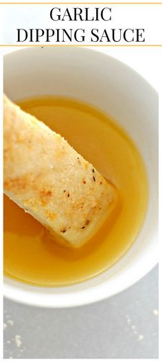 Garlic Dipping Sauce - I love this buttery garlic sauce! It is perfect for dipping breadsticks or pizza!
