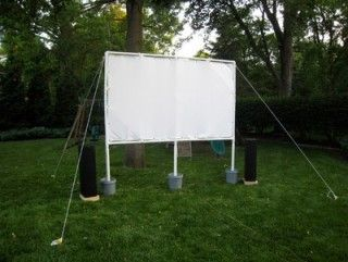Build Your Own Outdoor Movie Theater
