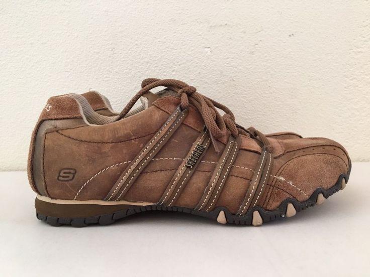 Skechers Bikers Originals Womens 6M Brown Suede Athletic Sneakers Walking Shoes. #Skechers #WalkingCasualSneakers