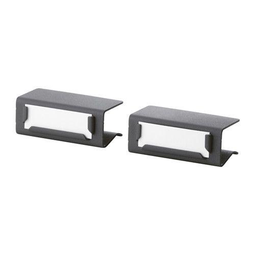 Label holder - clips to edge of wood shelf.  Closet, pantry, linen closet..........