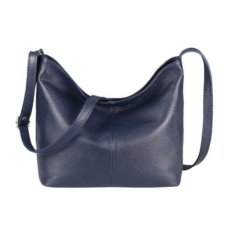 ITAL DAMEN LEDER TASCHE Umhängetasche Schultertasche CrossOver Ledertasche Bag:…