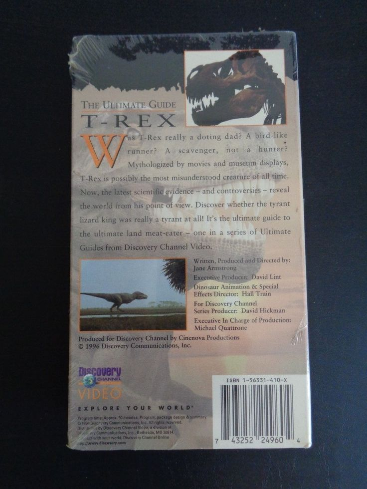 DISCOVERY CHANNEL The Ultimate Guide T-REX New VHS Dinosaur 1996