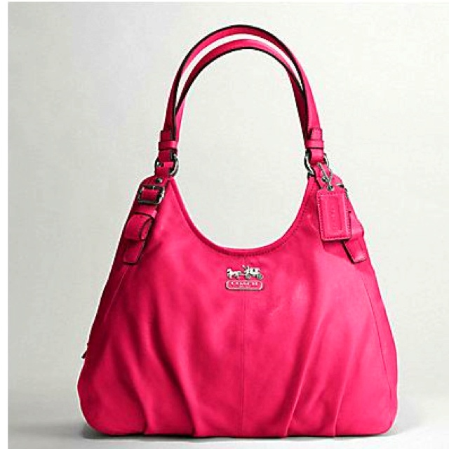 Pink leather coach purse | Buy me a Purse | Pinterest
