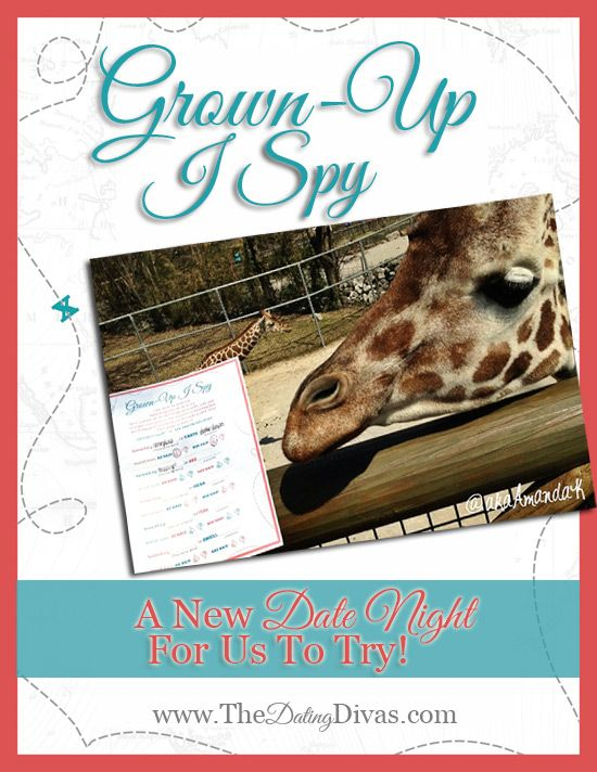 I Spy Date Night for grown-ups with FREE printable!! So fun! www.TheDatingDiva... #ispy #datenight #freeprintable