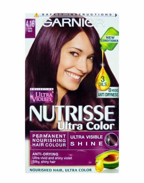 Garnier Nutrisse Ultra Color Permanent 4.16 Ultra Violet ...