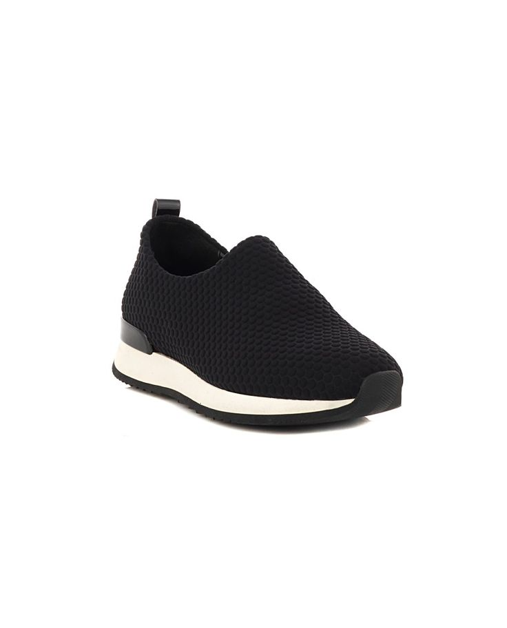 NR|RAPISARDI NEOPRENE SNEAKERS Black neoprene sneakers white trim rubber sole back engraved logo