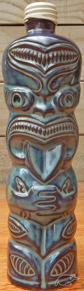NZ Ti- Toki Ceramic Liqueur Collectors Bottle    Believed to have been made by Crown Lynn Potteries 1979 - 1983    Circa 1984 The Crown Lynn made examples were ...