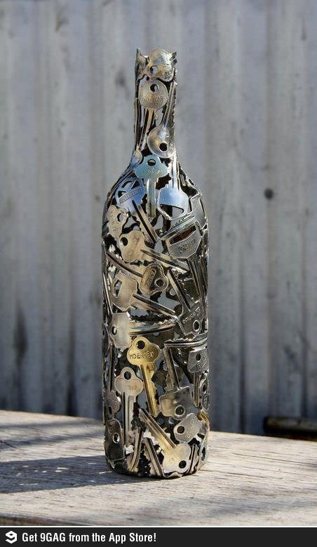 Beautiful Keys bottle #Diy